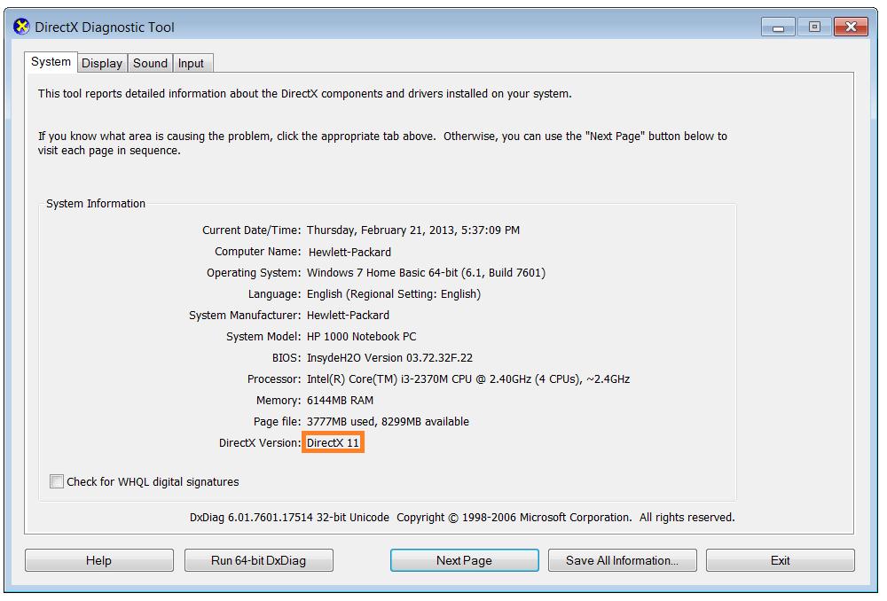 microsoft directx upgrade