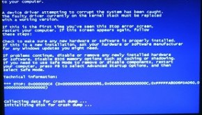 bsod blue screen of death