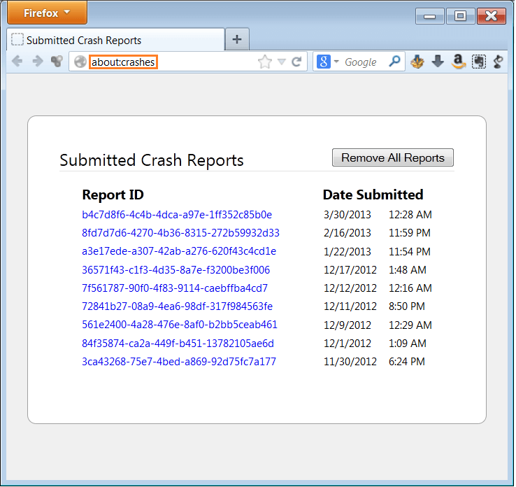 about-crashes - Crash Reports - WindowsWally