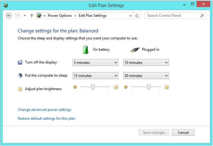 Windows 8 Sleep - Control Panel - Sleep 2 - WindowsWally