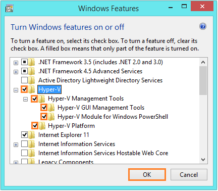 Windows 8.1 Hyper-V - Windows Features - WindowsWally