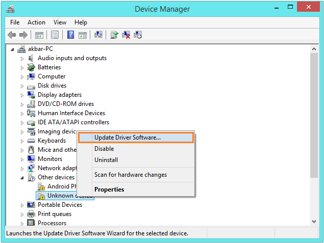 Ntoskrnl.exe - Device Manager - Update Driver Software... -- Windows Wally