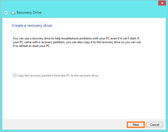 Recovery Drive - Control Panel - Recovery - 2 -- Windows Wally