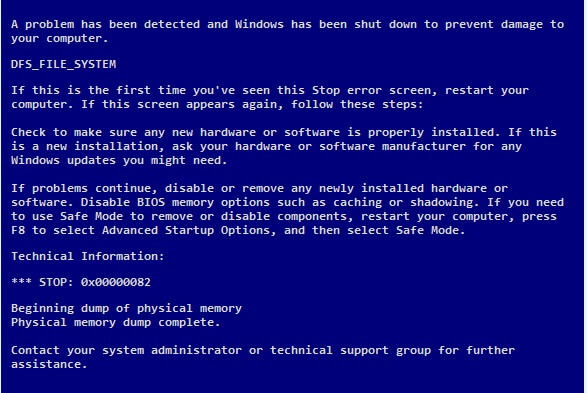 DFS_FILE_SYSTEM - Cover - BSoD -- Windows Wally