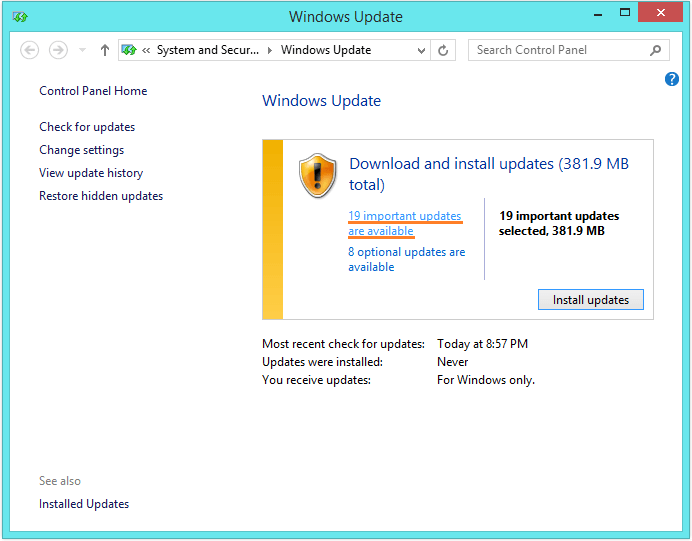 DRIVER_POWER_STATE_FAILURE - Windows update - check for updates 2 -- Windows Wally