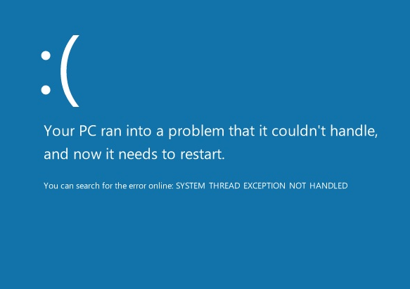 System_Thread_Exception_Not_Handled - Cover - 2 - BSoD -- Windows Wally
