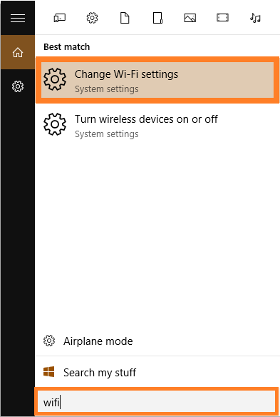 Volume - Windows 10 - Change Wi-Fi settings - Windows Wally