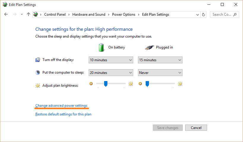 USB Ports - Power Options - Change advanced power settings - Windows 10 - WindowsWally
