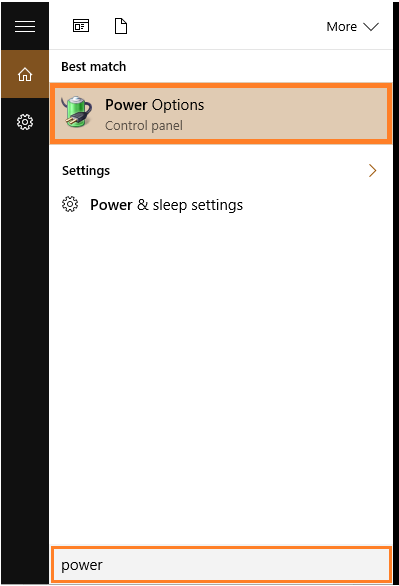 USB Ports - Start Menu - Power Options - Windows 10 - WindowsWally
