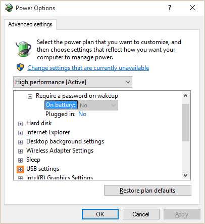 USB Ports - USB Selective Suspend setting - WindowsWally