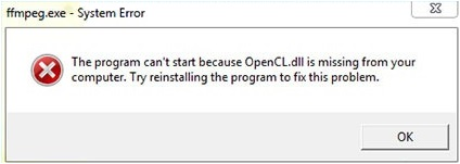 Opencl.dll  - Cover - Error - Windows Wally