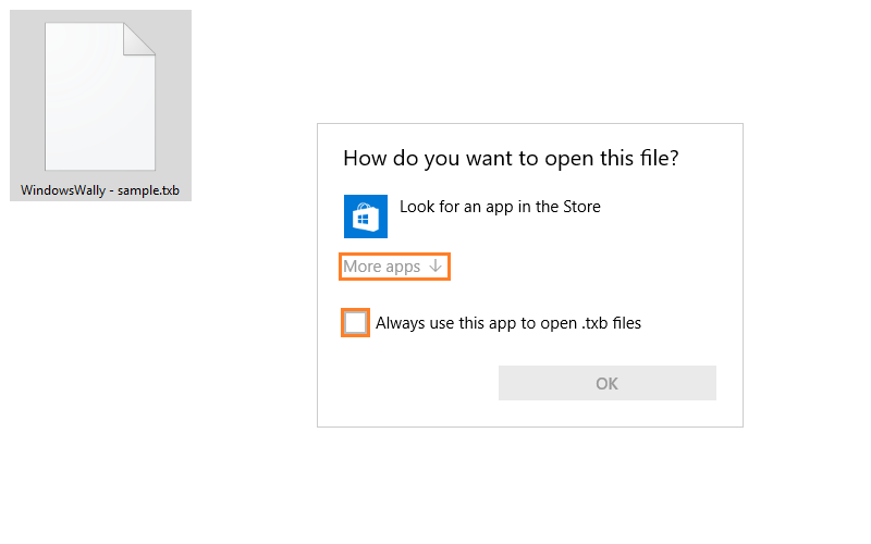 how to set default program to open files
