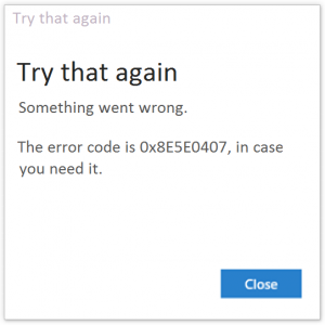 0x8E5E0407 -- Windows Store Error - Windows 10 - Featured - Windows Wally