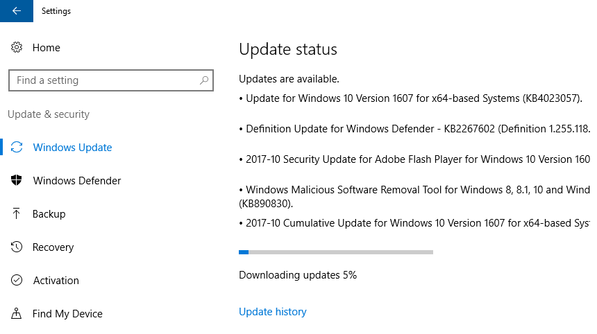 0x80070422 -- Windows 10 AE - Windows Update - 11 - Windows Wally