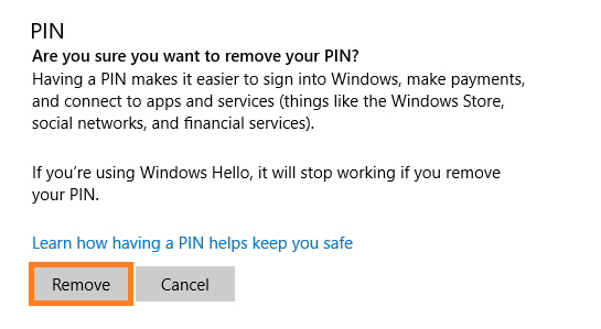 0x8009002d - Windows 10 - Set up PIN sign-in - Remove - 2 - Windows Wally
