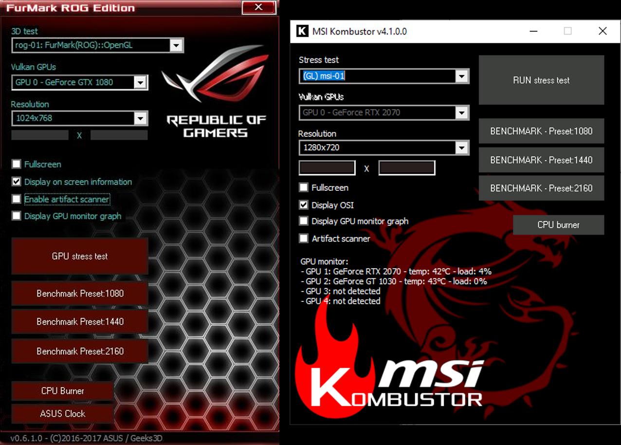 Diagnostic Tests -- GPU - Furmark - Diagnostic Tests - Windows Wally
